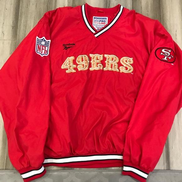 df054b7c NFL SF 49ers Reebok Pro Line Pullover Jacket XL